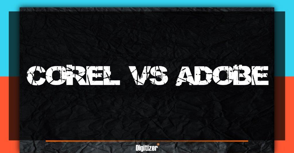 Featured Image For Blog Text Who Is The Master Of Vector Graphics? Adobe Illustrator Vs Corel Draw