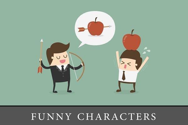 crtež sa smešnim crtanim likovima