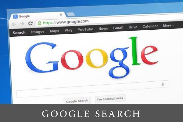 slika ekrana sa pretraživačem na kome je veliki Google logo