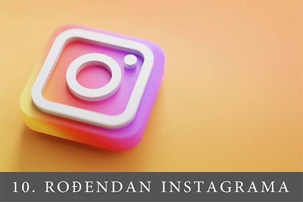 instagram logo na narandžastoj podlozi