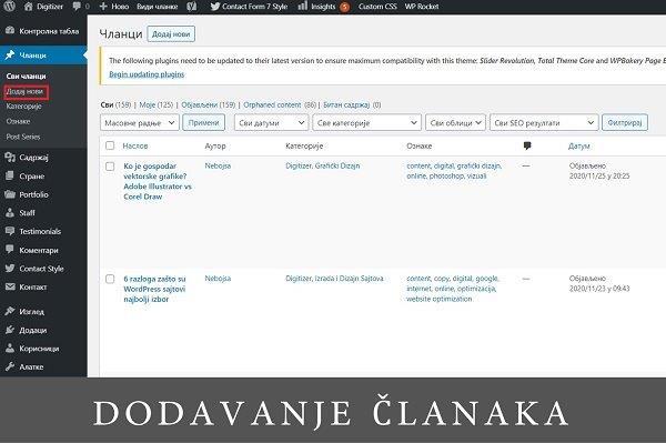Kako napraviti sajt pomoću WordPress-a?