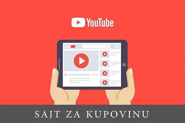 crtež tableta na kome je prikazan youtube interfejs